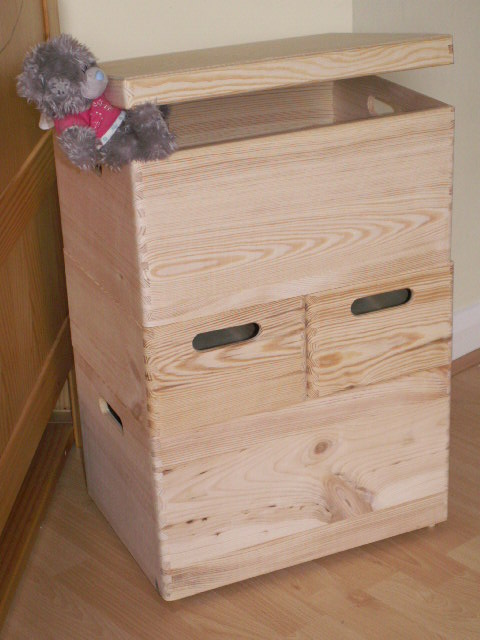 Childrens Kids Bedroom Furniture Set Toy Chest Boxes Ikea: Large New Wooden Storage Box /DIY Crates/Toy Boxes Set