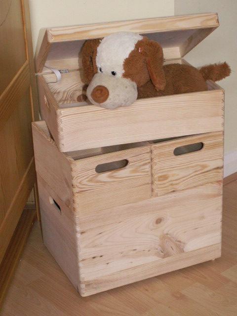 Large New Wooden Storage Box Diy Crates Toy Boxes Set
