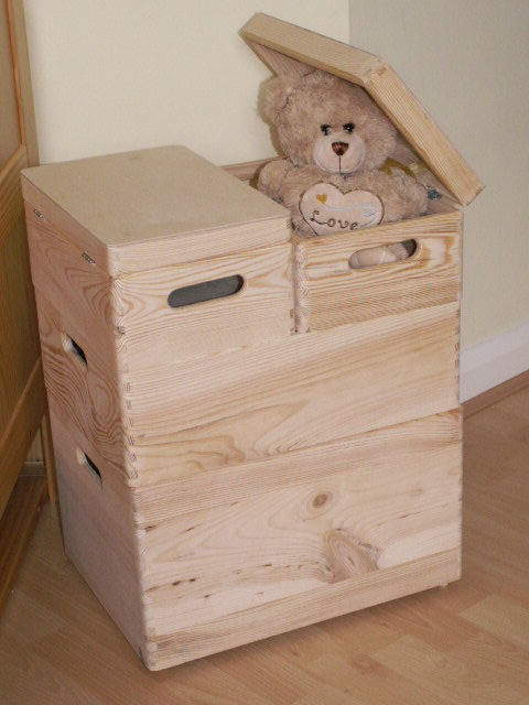 Large New Wooden Storage Box /DIY Crates/Toy Boxes Set/ Kids Bedroom ...