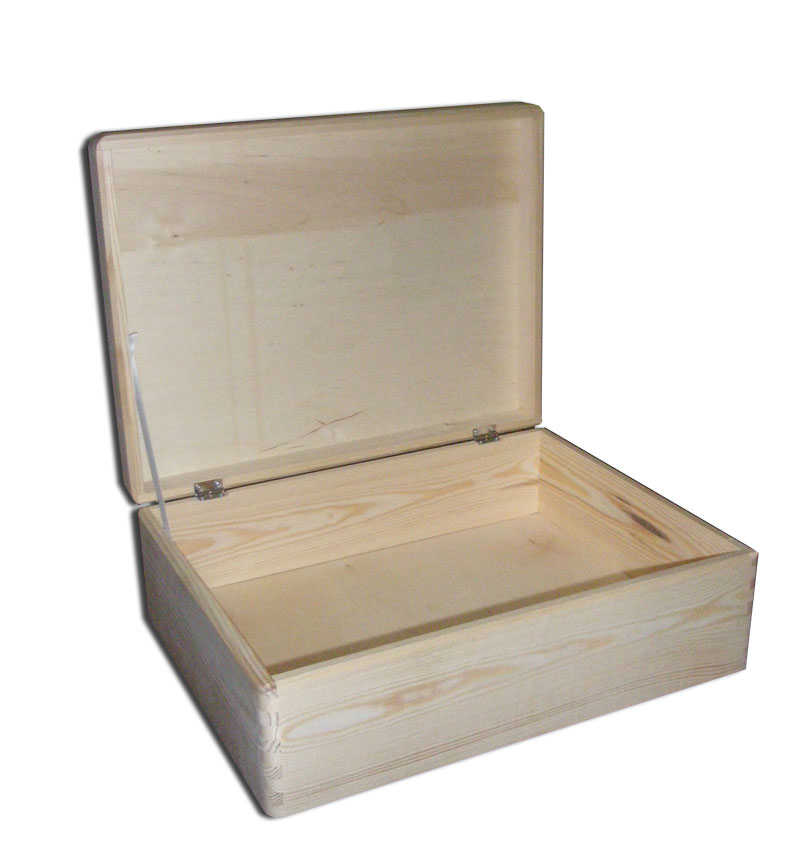 Plain Wooden Storage Chest/ Box With Lid